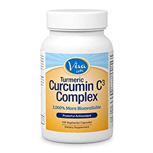 Curcumin C3® (Turmeric) w/ Bioperine® - 2,000 % More Bioavailable 500mg, 120 Vegetarian Capsules