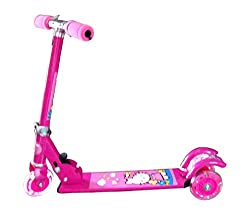 Treasure Box 3 wheel Kids Foot Scooty (Pink) [Toy]