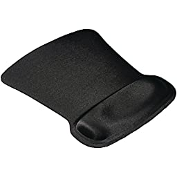 Ergoprene Gel Mousepad with wrist Rest - Black