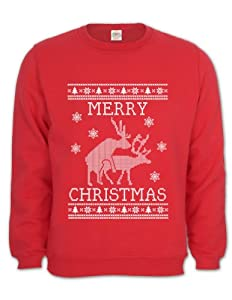 Reindeer Humping ugly christmas sweater Sweatshirt