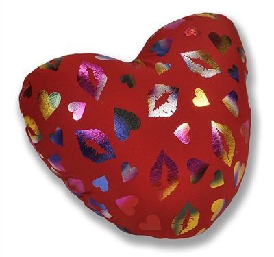 Red Heart Kisses Microbead Pillow