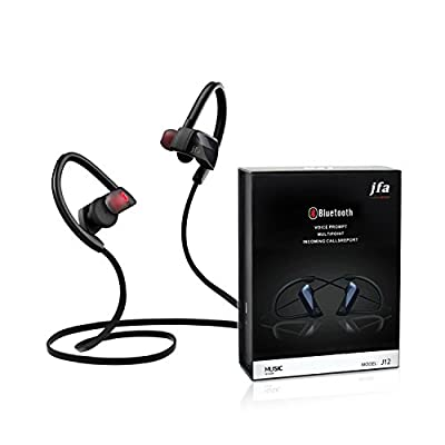 Bluetooth Headphones, JFA Wireless Sports Stereo Earphones Bluetooth 4.1 In-ear Headsets with Microphone Noise-Cancelling For Sports Running Hiking