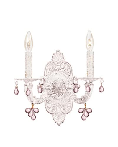 Gold Coast Lighting Sutton Collection Murano Crystal Wall Sconce