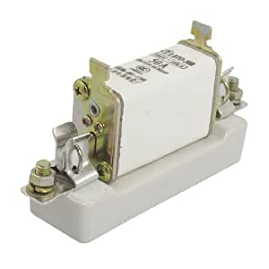 380V 50KA 50A Short Circuit Protection Fuse Link w Ceramic Base RTO-50B