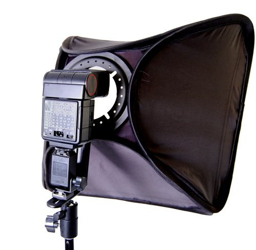 CowboyStudio Photo / Video 16in Speedlight Flash Softbox with L-Bracket, Shoe Mount & Carry Case
