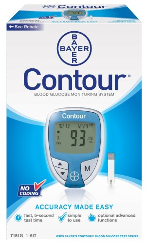Cheap Bayer's Contour  Blood Glucose Monitoring System (7151G)