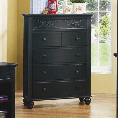 Distressed Black Dresser front-931631