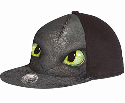 dreamworks-dragons-ohnezahn-snapback-verstellbar-kinder-basecap-schwarz