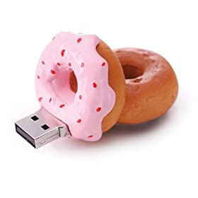 1GB Strawberry Donut USB Flash Drive - Delicious!!