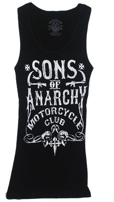 Motor Club - Sons Of Anarchy Sheer Women's Tank Top(Black, Small)