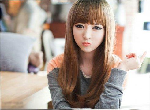 Fancy Long Healthy Hair Wig (Model: Jf010321) (Light Brown)