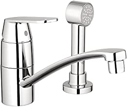 Grohe 31136000   Eurosmart Cosmopolitan Single-Handle Side Sprayer Kitchen Faucet in Starlight Chrome