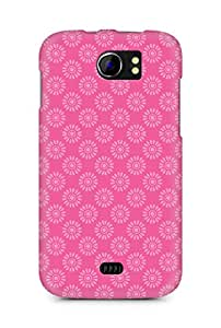 Amez designer printed 3d premium high quality back case cover for Micromax Canvas 2 A110 (Flower Pattern2)
