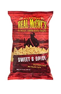 Real Mccoys Rice Chips Sweet And Spicy Gluten Free 6-ounce Pack Of 12 from Real McCoy's