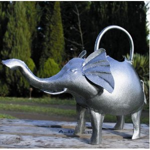 Small Silver Elephant Watering Can