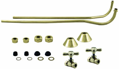 Westbrass Brass Double Offset Bath Supply Lines with 1/2 in. Comp Cross Valves (Clawfoot Tub Supply Lines compare prices)