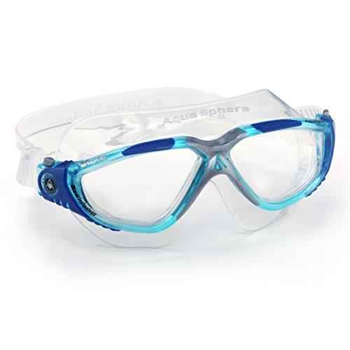 Aqua Sphere Vista Swim Goggles-Clear Lens-Grande per nuoto e sport acquatici