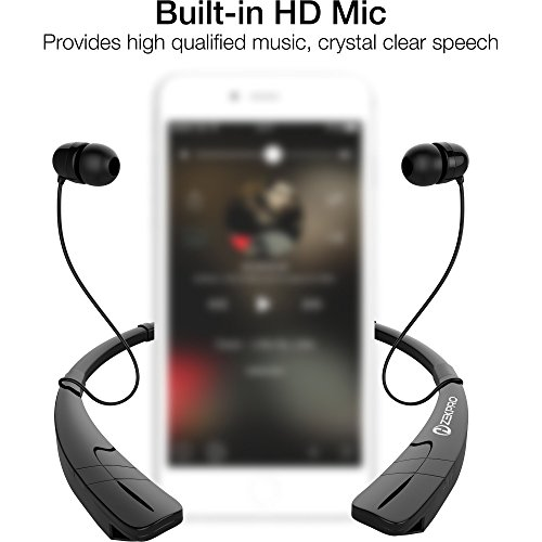 zekpro bluetooth headphones with mic long lasting battery life premium quality wireless. Black Bedroom Furniture Sets. Home Design Ideas