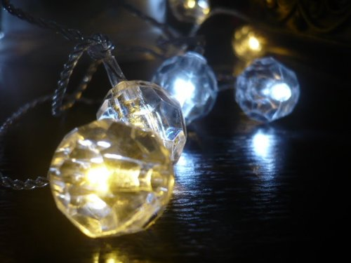 Crystal Clear Warm & Cool White LED String Lights; LED Christmas lights; Indoor/Outdoor party lights