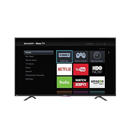 Sharp LC-50N4000U 50-Inch 1080p Roku Smart LED TV (2016 Model) (Sharp 50 Lcd Tv compare prices)