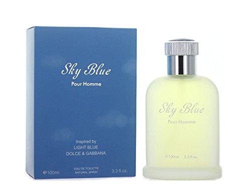 Sky Blue Pour Homme 3.3 Ounces Eau de Toilette Spray (Fragrence Spray compare prices)