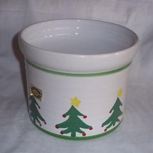 B.P.F. Heffen Belgium Christmas Tree Stoneware Crock