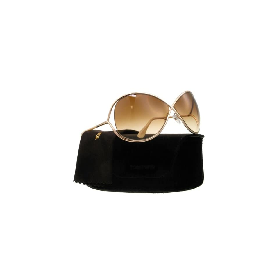 99fdff5ab44d6 TOM FORD FT0130 Miranda Sunglasses Shiny Rose Gold Gradient Brown (28F)  TF130 28F