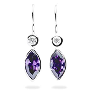 Rafaela Donata Boucles d'oreilles argent oxyde de zirconium violet / blanc 60800011