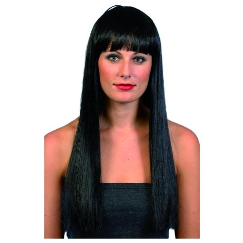 Black Beauty, Black, Long, Straight with Fringe