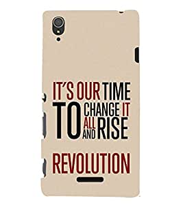 It's Our To Change Revolution Cute Fashion 3D Hard Polycarbonate Designer Back Case Cover for Sony Xperia T3