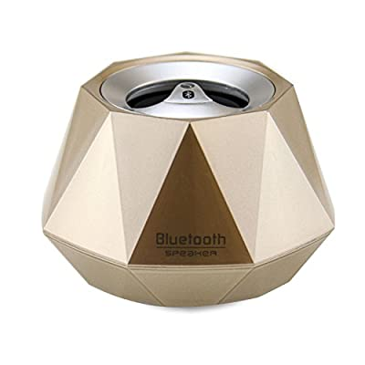 LB1 High Performance New Wireless Bluetooth Mini Speaker for Samsung Galaxy Player 3.6 Diamond Bluetooth Speaker with Built-in Microphone for Hands-Free Phone Call (Gold)