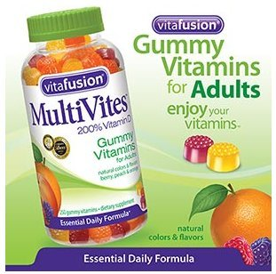 Vitafusion - Multivites 200% Vitamin D 250 Gummies Adult Size, Very Tasty.