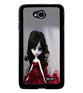 PrintDhaba Cute Doll D-1069 Back Case Cover for LG L90 (Multi-Coloured)