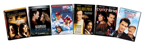 Tom Hanks 6-Pack Bundle (The Da Vinci Code, Sleepless In Seattle, A League Of Their Own, Philadelphia, Punchline, Nothing In Common)