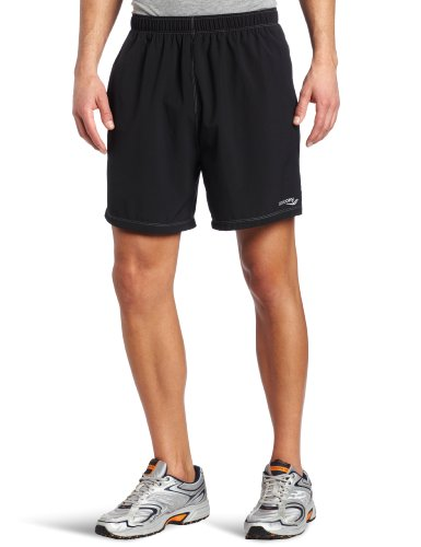 Saucony Men's Alpha Short, Black, Large