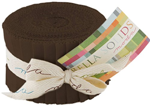 Bella Solids Brown Jr Jelly Roll (9900JJR 71) by Moda House Designer for Moda (Jelly Rolls Solids compare prices)