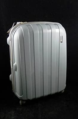 "Luggage X - 56cm (22"") Hard Sided Grey Polypropylene Lightweight Trolley Suitcase - NEXT DAY DELIVERY*"