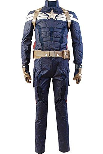 [Men's The Winter Soldier Captain Steve Rogers Costume Medium] (Captain America Uniform)