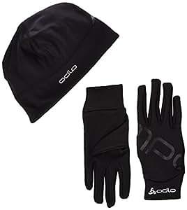 Odlo Set Intensity - Gift Pack of Hat and Gloves black black Size:FR : L (Taille Fabricant : L)