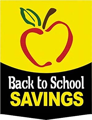 Home Seasonal Event Signs Back to School Signs Back to School Savings
