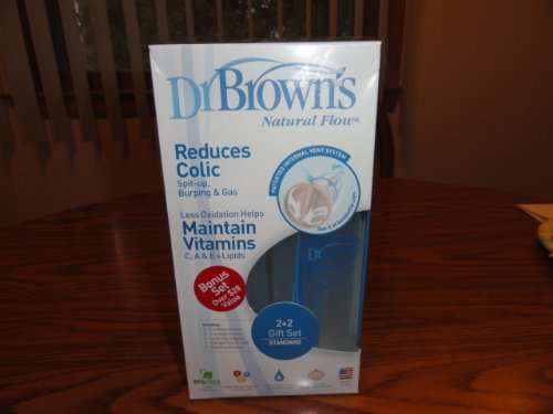 Dr. Brown's Natural Flow Baby Bottles Gift Set. Reduces Colic