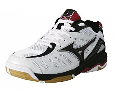 MIZUNO Wave Rally 4 Men's Indoor Shoe, White/Black/Red, US5