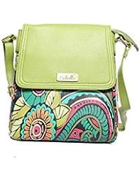 Echelle Faux Leather Floral Sling Bag