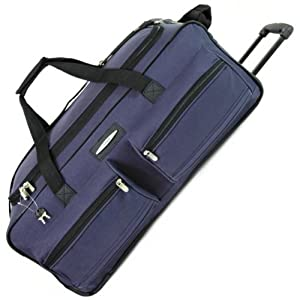 Jeep XXL Extra Large Wheeled Holdall - 5 Years Warranty! (Navy 27 Inch)