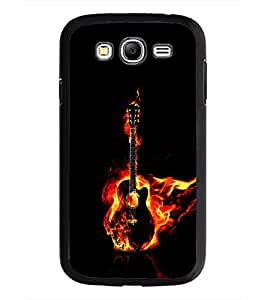 PrintDhaba Guitar on Fire D-1242 Back Case Cover for SAMSUNG GALAXY GRAND NEO (Multi-Coloured)