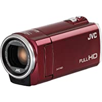 "JVC GZ-E100 Full HD Everio Camcorder, 40x Optical Zoom, 200x Digital Zoom, 2.7"" LCD Panel, CMOS Sensor, SC/SDHC/SDXC, 2.9-116 Focal Length, Red by JVC"
