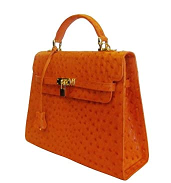 Chloe - Genuine Ostrich Skin Handbag
