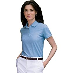 Devon & Jones Ladies' Recycled Fiber Pima Melange Pique Polo