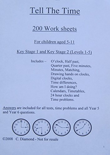 Time difference worksheets year 2