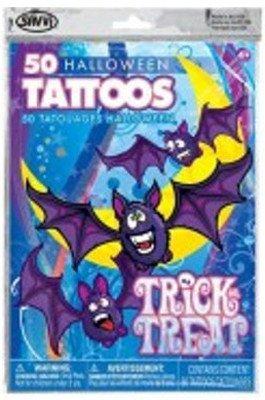Haunted House - 50 Halloween Temporary Tattoos - 1